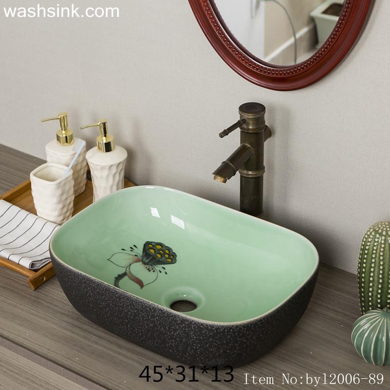 byl2006-89-1 byl2006-89 Jingdezhen ceramic washbasin with lotus decoration - shengjiang  ceramic  factory   porcelain art hand basin wash sink