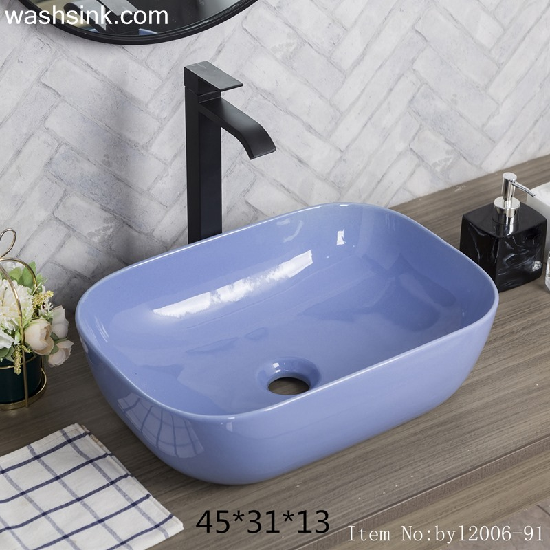 byl2006-91-1 byl2006-91 Jingdezhen exquisite glaze purple blue ceramic washbasin - shengjiang  ceramic  factory   porcelain art hand basin wash sink