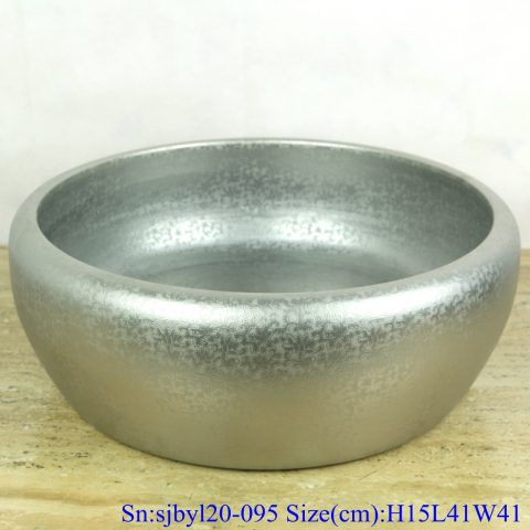 sjby120-095 Jingdezhen hand-painted small bud silver pattern washbasin