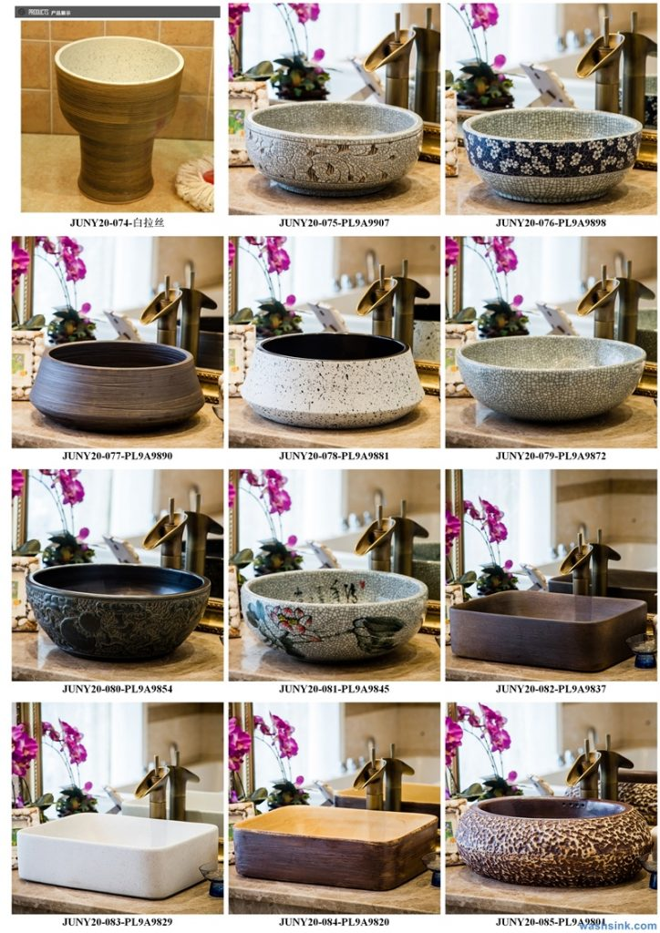 2020-VOL01-jingdezhen-shengjiang-ceramic-art-basin-washsink-brochure-LJ-YR-BYL-JUNY-015-724x1024 Two wash basin catalogues produced by Shengjiang Ceramics Company will be released in 2020.9.14 - shengjiang  ceramic  factory   porcelain art hand basin wash sink