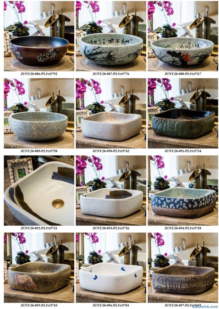 2020-VOL01-jingdezhen-shengjiang-ceramic-art-basin-washsink-brochure-LJ-YR-BYL-JUNY-016-724x1024 Two wash basin catalogues produced by Shengjiang Ceramics Company will be released in 2020.9.14 - shengjiang  ceramic  factory   porcelain art hand basin wash sink