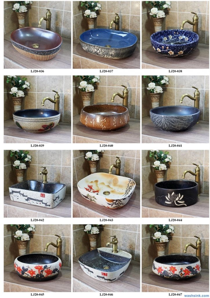 2020-VOL01-jingdezhen-shengjiang-ceramic-art-basin-washsink-brochure-LJ-YR-BYL-JUNY-032-724x1024 Two wash basin catalogues produced by Shengjiang Ceramics Company will be released in 2020.9.14 - shengjiang  ceramic  factory   porcelain art hand basin wash sink