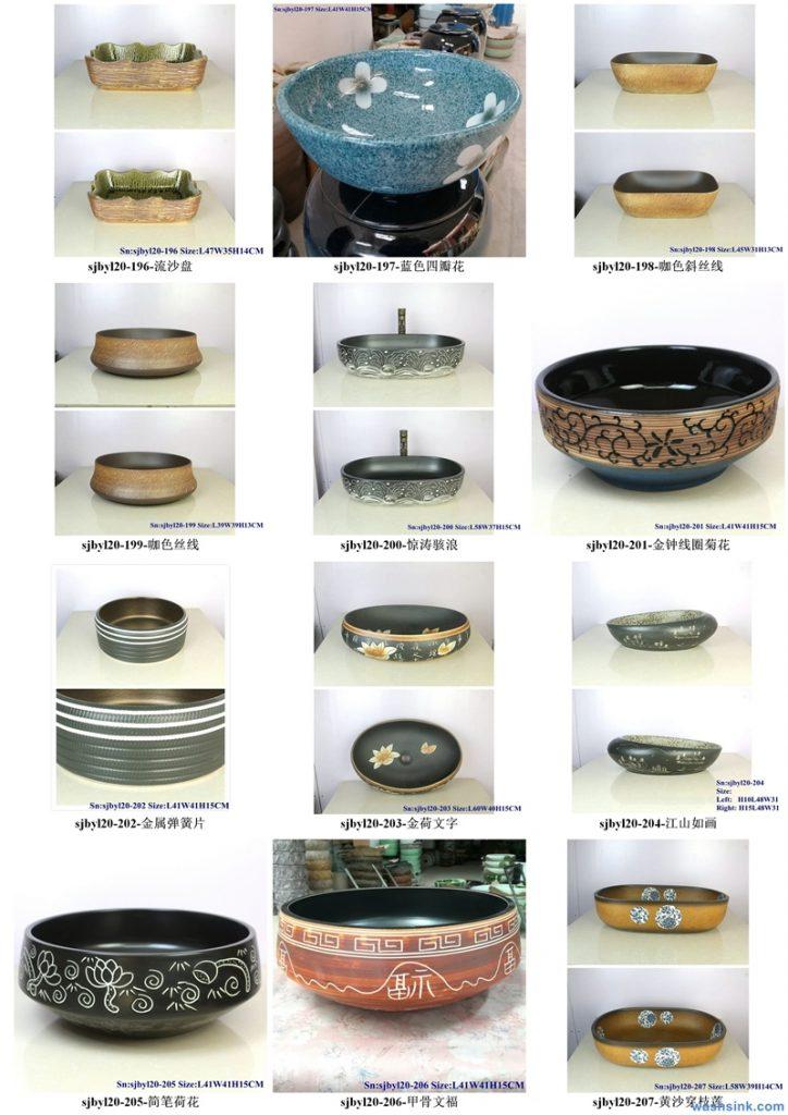 2020-VOL01-jingdezhen-shengjiang-ceramic-art-basin-washsink-brochure-LJ-YR-BYL-JUNY-098-724x1024 Two wash basin catalogues produced by Shengjiang Ceramics Company will be released in 2020.9.14 - shengjiang  ceramic  factory   porcelain art hand basin wash sink