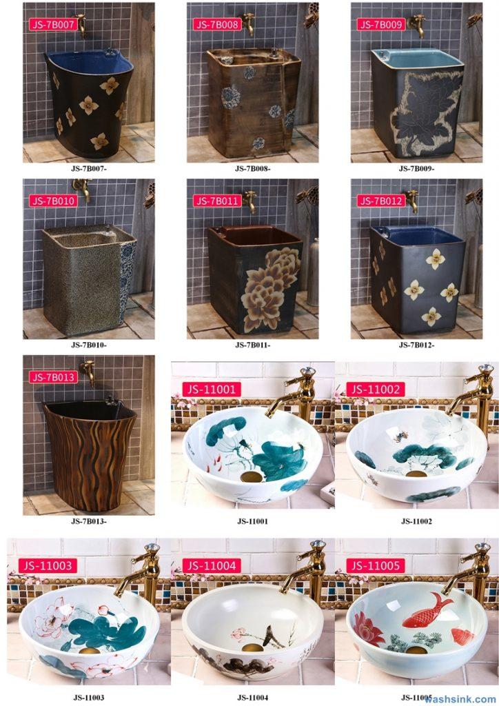 2020-VOL02-jingdezhen-shengjiang-ceramic-art-basin-washsink-brochure-JS-003-724x1024 Two wash basin catalogues produced by Shengjiang Ceramics Company will be released in 2020.9.14 - shengjiang  ceramic  factory   porcelain art hand basin wash sink
