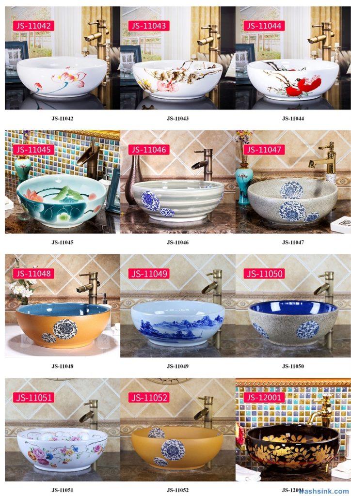 2020-VOL02-jingdezhen-shengjiang-ceramic-art-basin-washsink-brochure-JS-007-724x1024 Two wash basin catalogues produced by Shengjiang Ceramics Company will be released in 2020.9.14 - shengjiang  ceramic  factory   porcelain art hand basin wash sink