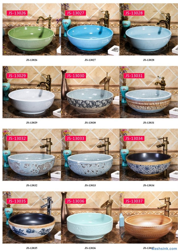 2020-VOL02-jingdezhen-shengjiang-ceramic-art-basin-washsink-brochure-JS-013-724x1024 Two wash basin catalogues produced by Shengjiang Ceramics Company will be released in 2020.9.14 - shengjiang  ceramic  factory   porcelain art hand basin wash sink