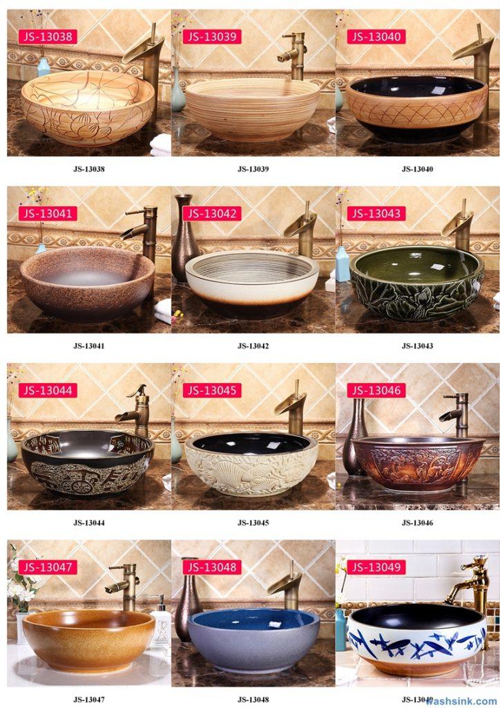 2020-VOL02-jingdezhen-shengjiang-ceramic-art-basin-washsink-brochure-JS-014-724x1024 Two wash basin catalogues produced by Shengjiang Ceramics Company will be released in 2020.9.14 - shengjiang  ceramic  factory   porcelain art hand basin wash sink