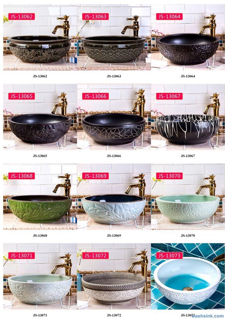 2020-VOL02-jingdezhen-shengjiang-ceramic-art-basin-washsink-brochure-JS-016-724x1024 Two wash basin catalogues produced by Shengjiang Ceramics Company will be released in 2020.9.14 - shengjiang  ceramic  factory   porcelain art hand basin wash sink