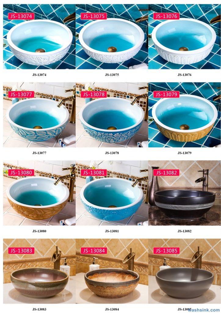 2020-VOL02-jingdezhen-shengjiang-ceramic-art-basin-washsink-brochure-JS-017-724x1024 Two wash basin catalogues produced by Shengjiang Ceramics Company will be released in 2020.9.14 - shengjiang  ceramic  factory   porcelain art hand basin wash sink