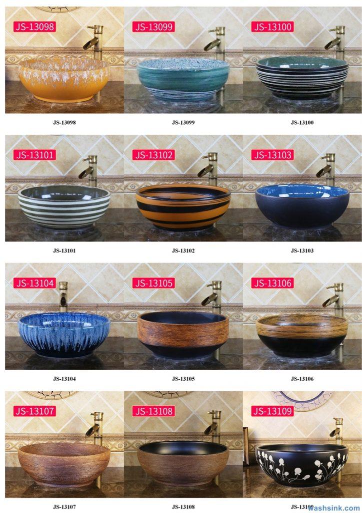 2020-VOL02-jingdezhen-shengjiang-ceramic-art-basin-washsink-brochure-JS-019-724x1024 Two wash basin catalogues produced by Shengjiang Ceramics Company will be released in 2020.9.14 - shengjiang  ceramic  factory   porcelain art hand basin wash sink