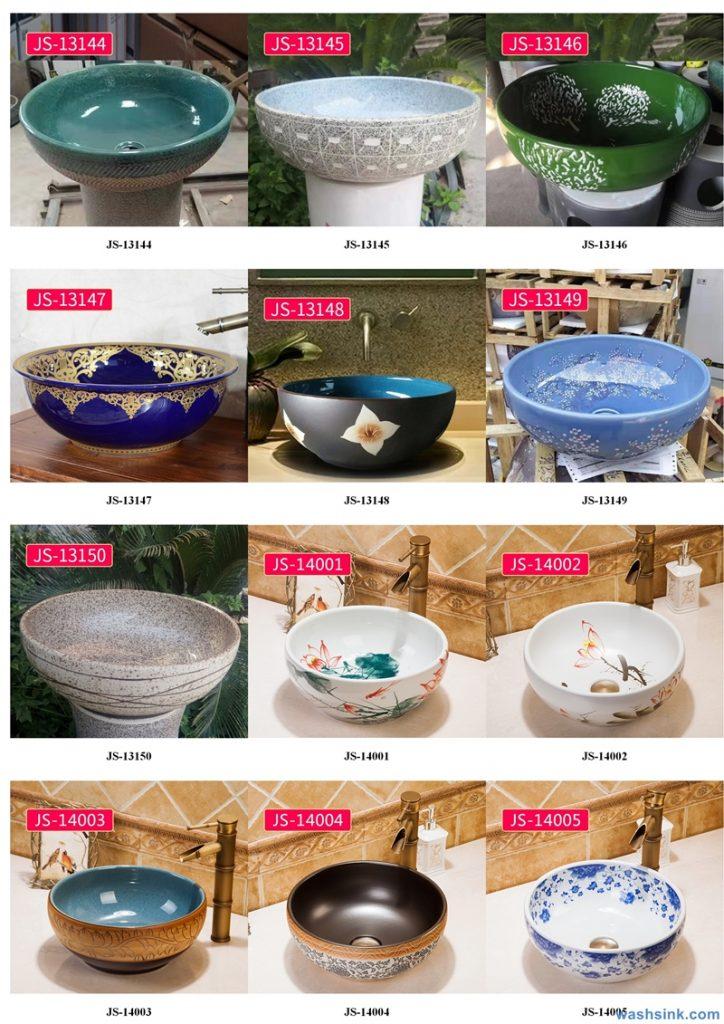 2020-VOL02-jingdezhen-shengjiang-ceramic-art-basin-washsink-brochure-JS-023-724x1024 Two wash basin catalogues produced by Shengjiang Ceramics Company will be released in 2020.9.14 - shengjiang  ceramic  factory   porcelain art hand basin wash sink