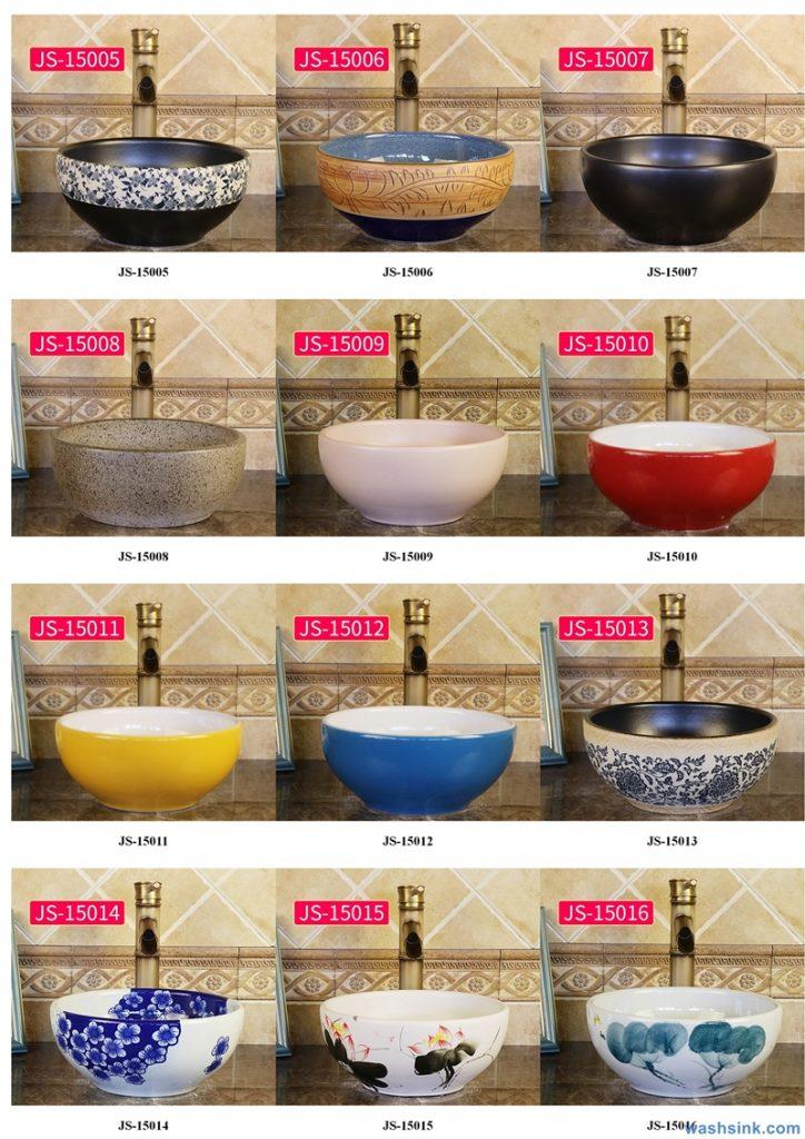 2020-VOL02-jingdezhen-shengjiang-ceramic-art-basin-washsink-brochure-JS-030-724x1024 Two wash basin catalogues produced by Shengjiang Ceramics Company will be released in 2020.9.14 - shengjiang  ceramic  factory   porcelain art hand basin wash sink