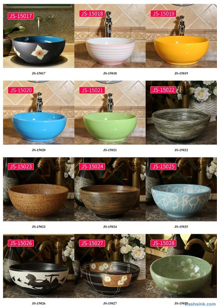 2020-VOL02-jingdezhen-shengjiang-ceramic-art-basin-washsink-brochure-JS-031-724x1024 Two wash basin catalogues produced by Shengjiang Ceramics Company will be released in 2020.9.14 - shengjiang  ceramic  factory   porcelain art hand basin wash sink