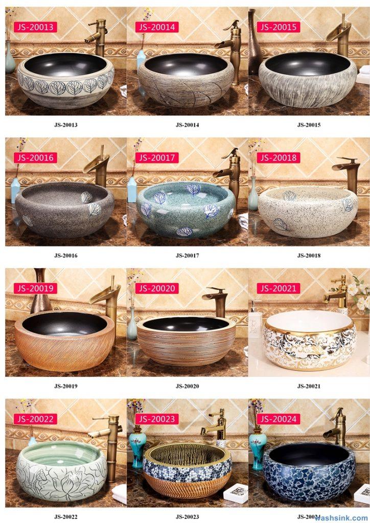 2020-VOL02-jingdezhen-shengjiang-ceramic-art-basin-washsink-brochure-JS-033-724x1024 Two wash basin catalogues produced by Shengjiang Ceramics Company will be released in 2020.9.14 - shengjiang  ceramic  factory   porcelain art hand basin wash sink