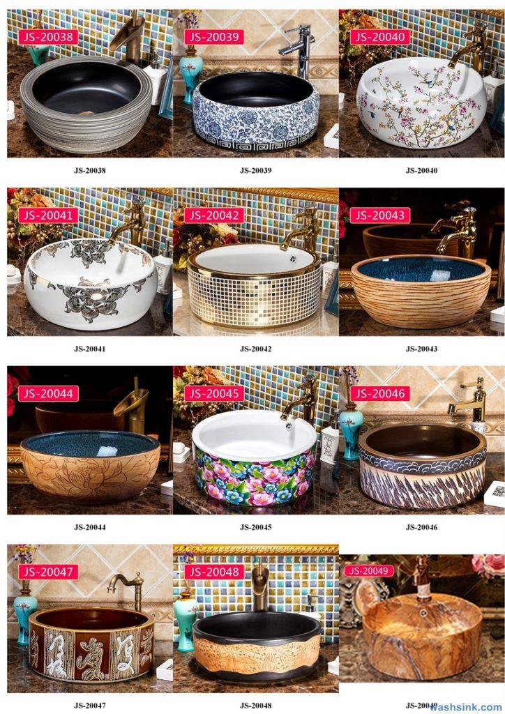 2020-VOL02-jingdezhen-shengjiang-ceramic-art-basin-washsink-brochure-JS-035-724x1024 Two wash basin catalogues produced by Shengjiang Ceramics Company will be released in 2020.9.14 - shengjiang  ceramic  factory   porcelain art hand basin wash sink