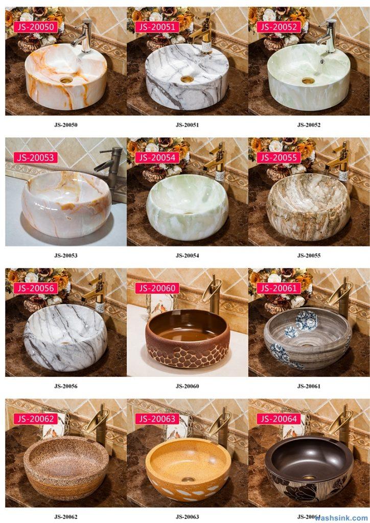 2020-VOL02-jingdezhen-shengjiang-ceramic-art-basin-washsink-brochure-JS-036-724x1024 Two wash basin catalogues produced by Shengjiang Ceramics Company will be released in 2020.9.14 - shengjiang  ceramic  factory   porcelain art hand basin wash sink