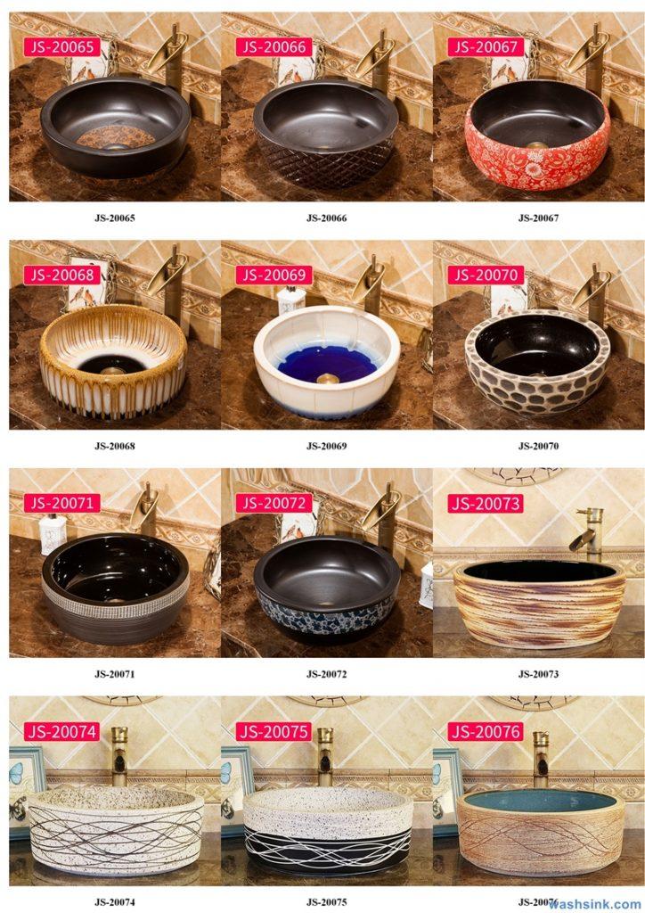 2020-VOL02-jingdezhen-shengjiang-ceramic-art-basin-washsink-brochure-JS-037-724x1024 Two wash basin catalogues produced by Shengjiang Ceramics Company will be released in 2020.9.14 - shengjiang  ceramic  factory   porcelain art hand basin wash sink