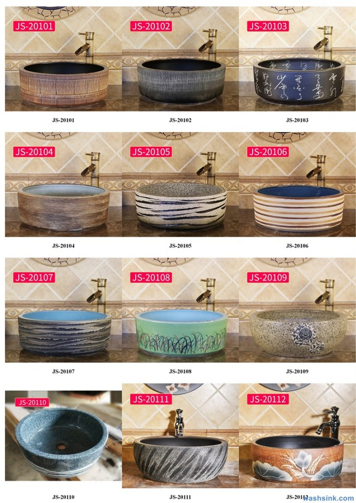 2020-VOL02-jingdezhen-shengjiang-ceramic-art-basin-washsink-brochure-JS-040-724x1024 Two wash basin catalogues produced by Shengjiang Ceramics Company will be released in 2020.9.14 - shengjiang  ceramic  factory   porcelain art hand basin wash sink