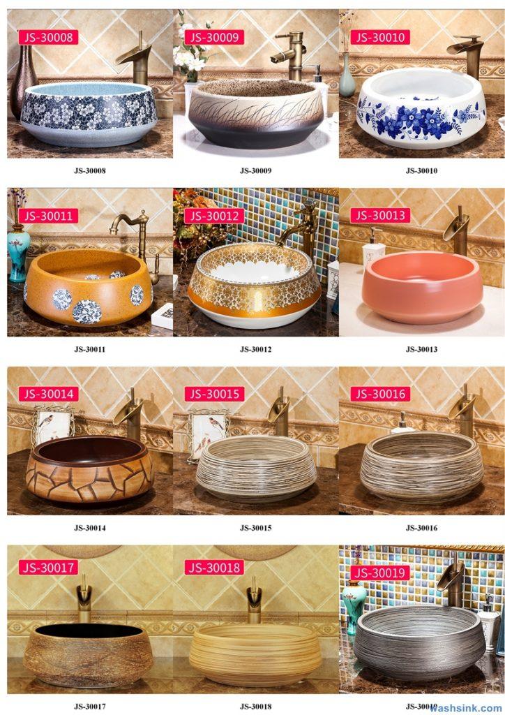 2020-VOL02-jingdezhen-shengjiang-ceramic-art-basin-washsink-brochure-JS-043-724x1024 Two wash basin catalogues produced by Shengjiang Ceramics Company will be released in 2020.9.14 - shengjiang  ceramic  factory   porcelain art hand basin wash sink