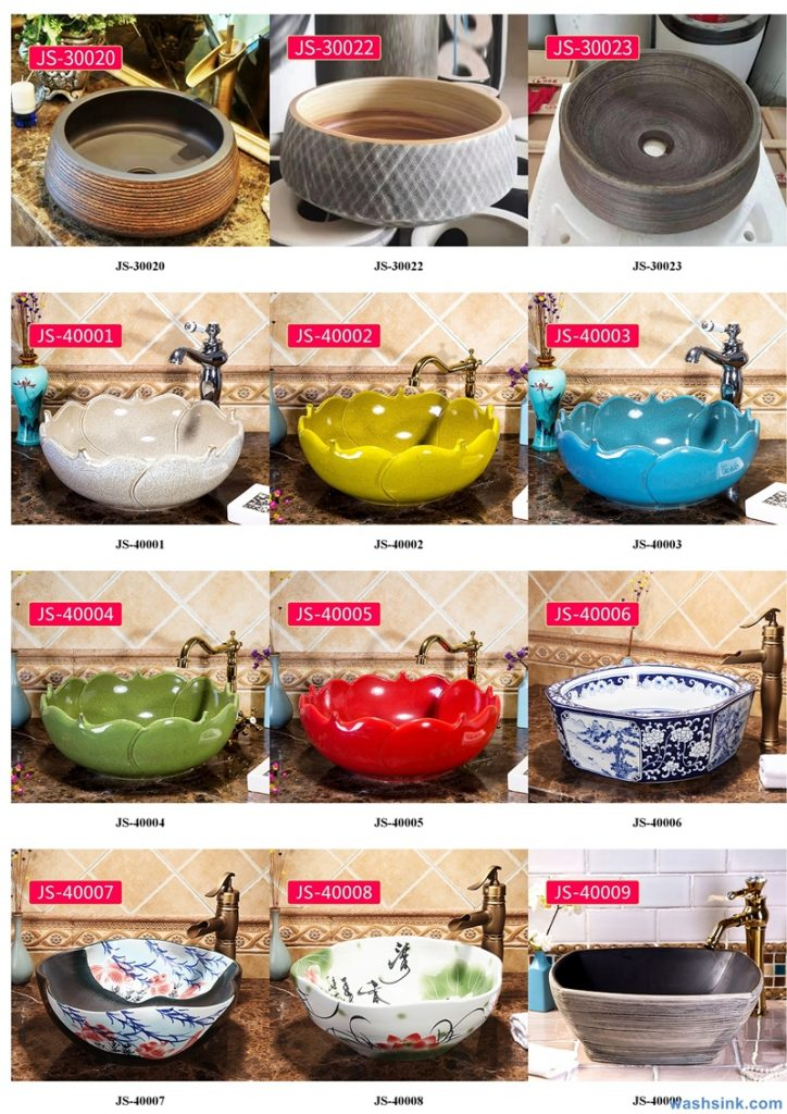 2020-VOL02-jingdezhen-shengjiang-ceramic-art-basin-washsink-brochure-JS-044-724x1024 Two wash basin catalogues produced by Shengjiang Ceramics Company will be released in 2020.9.14 - shengjiang  ceramic  factory   porcelain art hand basin wash sink