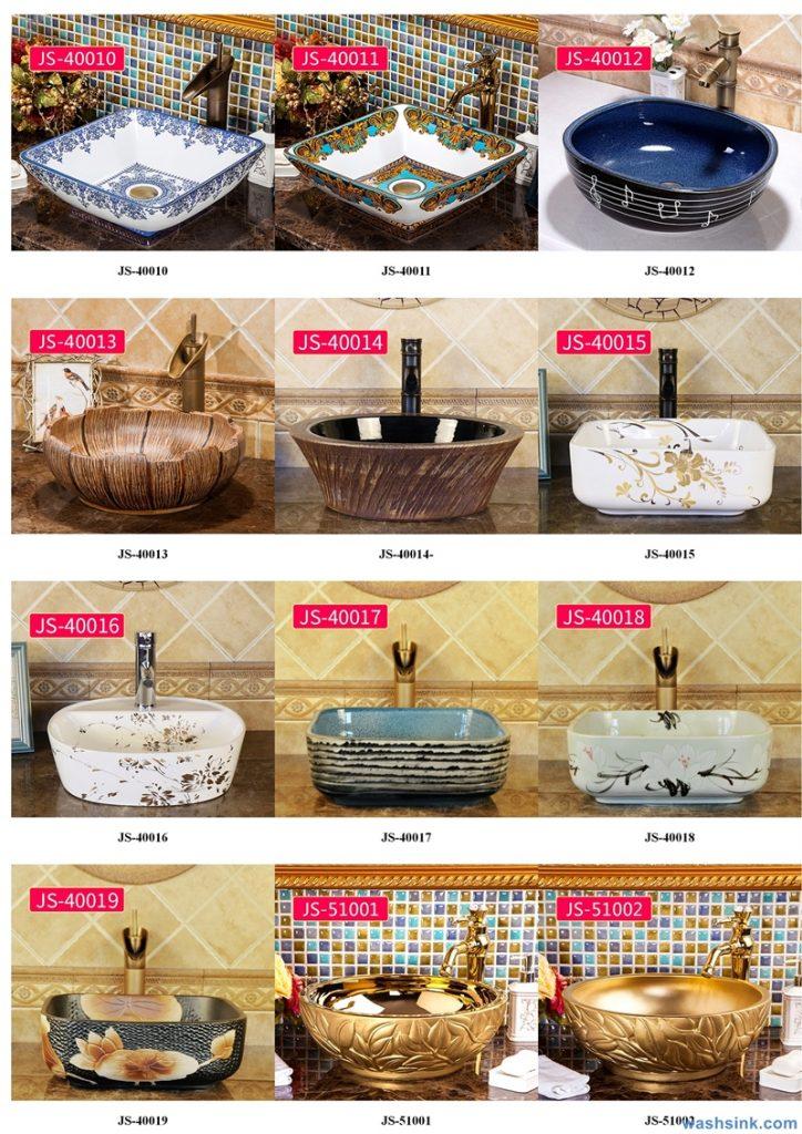 2020-VOL02-jingdezhen-shengjiang-ceramic-art-basin-washsink-brochure-JS-045-724x1024 Two wash basin catalogues produced by Shengjiang Ceramics Company will be released in 2020.9.14 - shengjiang  ceramic  factory   porcelain art hand basin wash sink