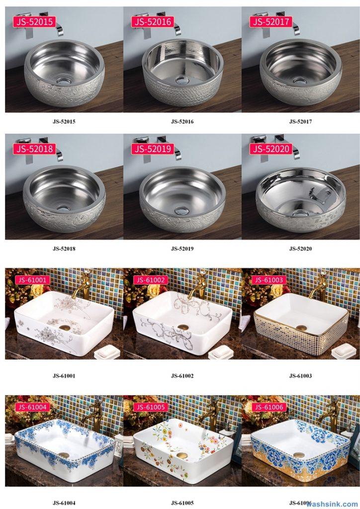 2020-VOL02-jingdezhen-shengjiang-ceramic-art-basin-washsink-brochure-JS-051-724x1024 Two wash basin catalogues produced by Shengjiang Ceramics Company will be released in 2020.9.14 - shengjiang  ceramic  factory   porcelain art hand basin wash sink
