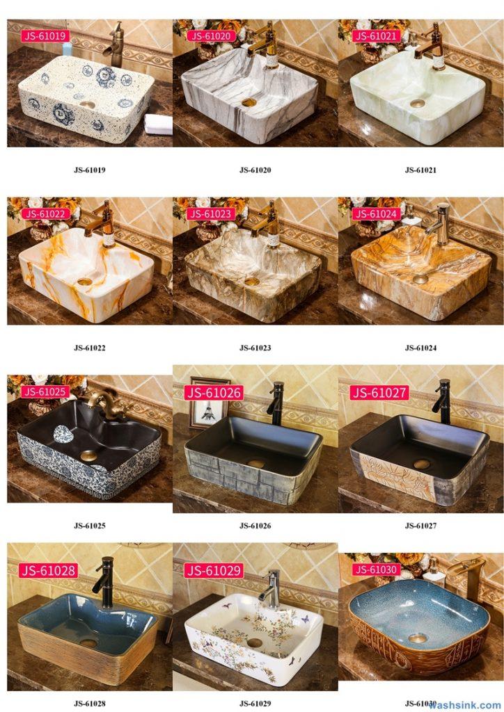2020-VOL02-jingdezhen-shengjiang-ceramic-art-basin-washsink-brochure-JS-053-724x1024 Two wash basin catalogues produced by Shengjiang Ceramics Company will be released in 2020.9.14 - shengjiang  ceramic  factory   porcelain art hand basin wash sink