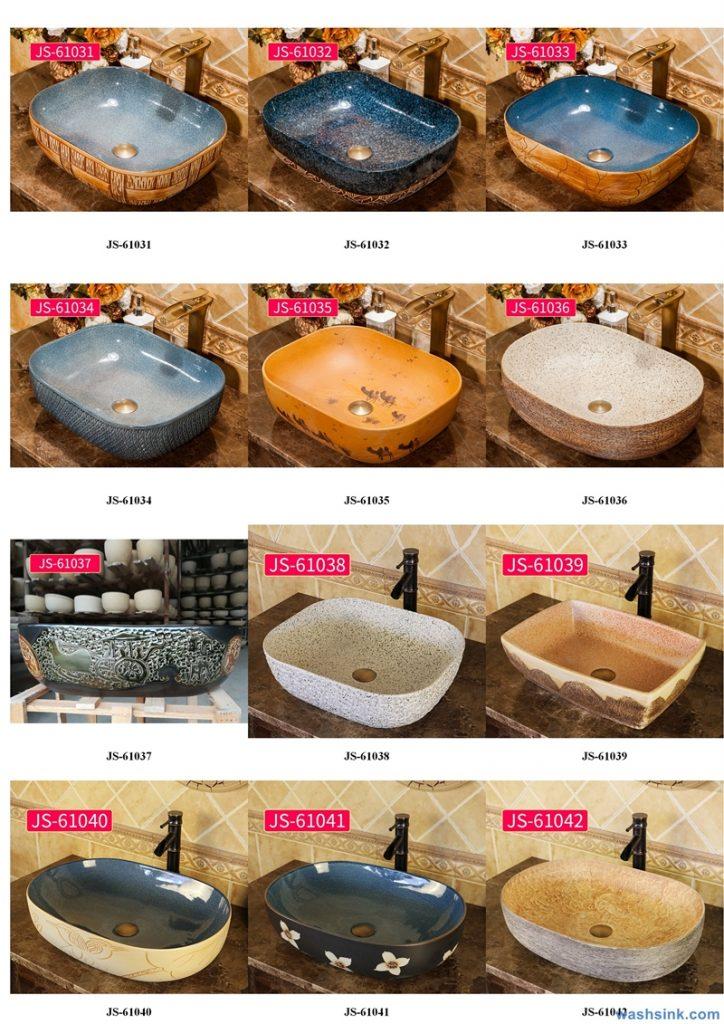 2020-VOL02-jingdezhen-shengjiang-ceramic-art-basin-washsink-brochure-JS-054-724x1024 Two wash basin catalogues produced by Shengjiang Ceramics Company will be released in 2020.9.14 - shengjiang  ceramic  factory   porcelain art hand basin wash sink