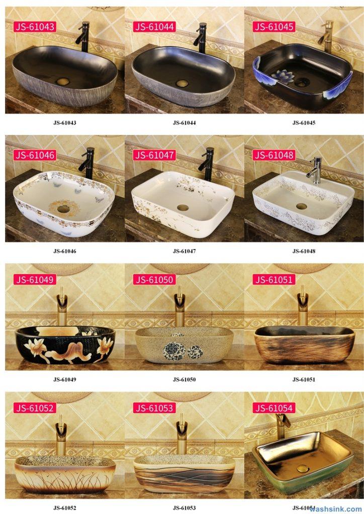2020-VOL02-jingdezhen-shengjiang-ceramic-art-basin-washsink-brochure-JS-055-724x1024 Two wash basin catalogues produced by Shengjiang Ceramics Company will be released in 2020.9.14 - shengjiang  ceramic  factory   porcelain art hand basin wash sink