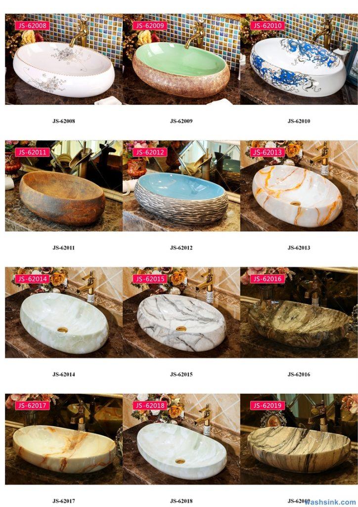 2020-VOL02-jingdezhen-shengjiang-ceramic-art-basin-washsink-brochure-JS-057-724x1024 Two wash basin catalogues produced by Shengjiang Ceramics Company will be released in 2020.9.14 - shengjiang  ceramic  factory   porcelain art hand basin wash sink