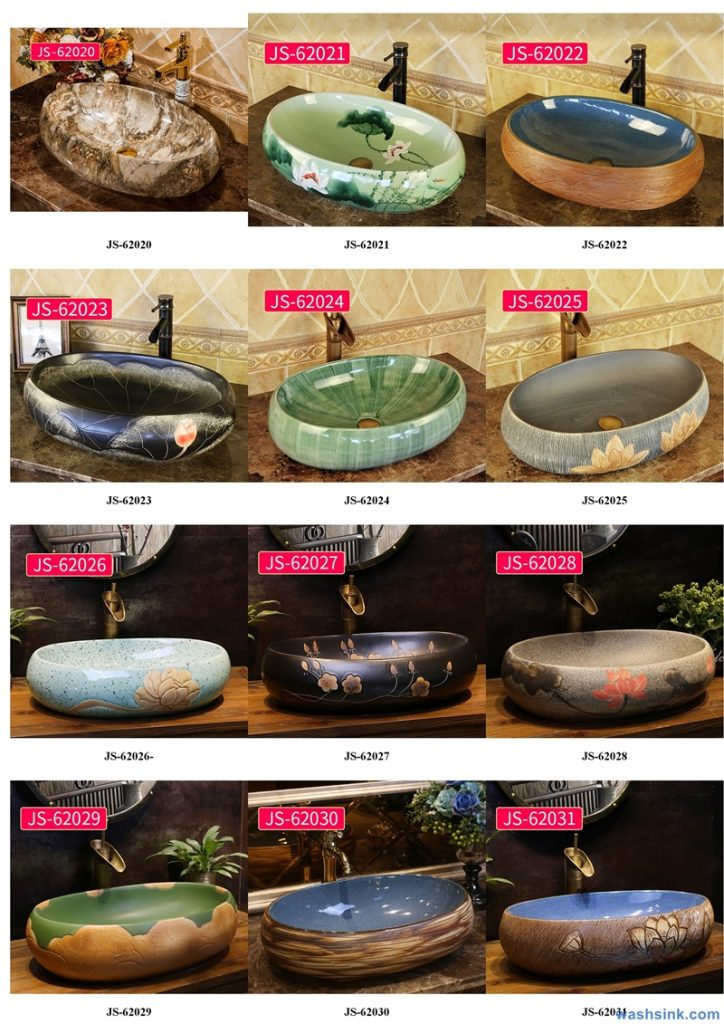 2020-VOL02-jingdezhen-shengjiang-ceramic-art-basin-washsink-brochure-JS-058-724x1024 Two wash basin catalogues produced by Shengjiang Ceramics Company will be released in 2020.9.14 - shengjiang  ceramic  factory   porcelain art hand basin wash sink
