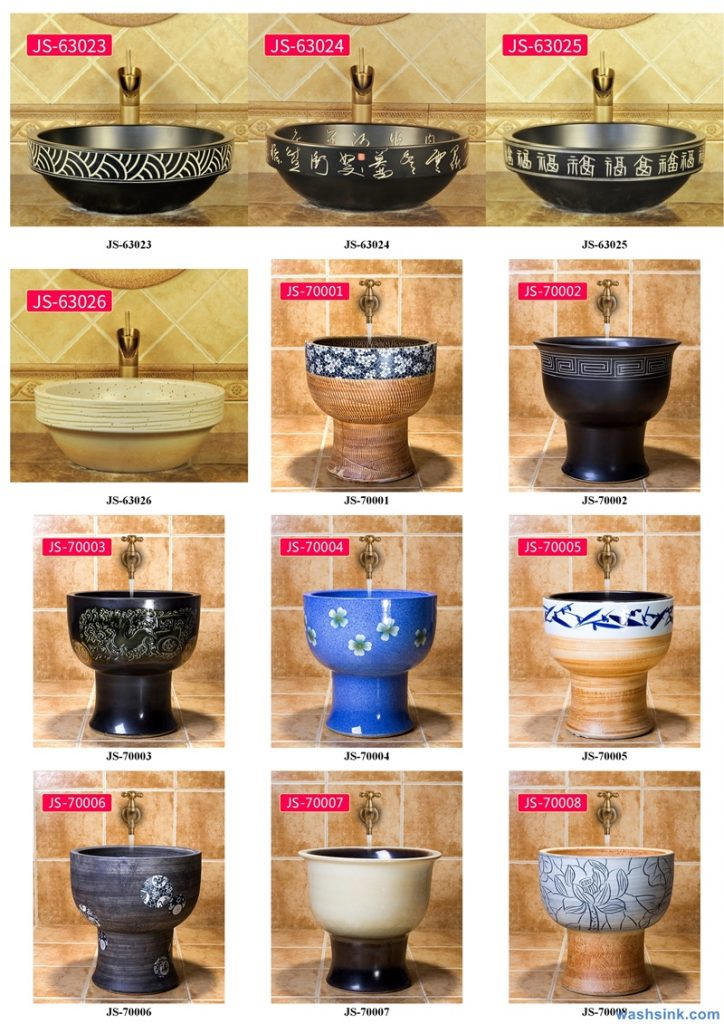 2020-VOL02-jingdezhen-shengjiang-ceramic-art-basin-washsink-brochure-JS-061-724x1024 Two wash basin catalogues produced by Shengjiang Ceramics Company will be released in 2020.9.14 - shengjiang  ceramic  factory   porcelain art hand basin wash sink