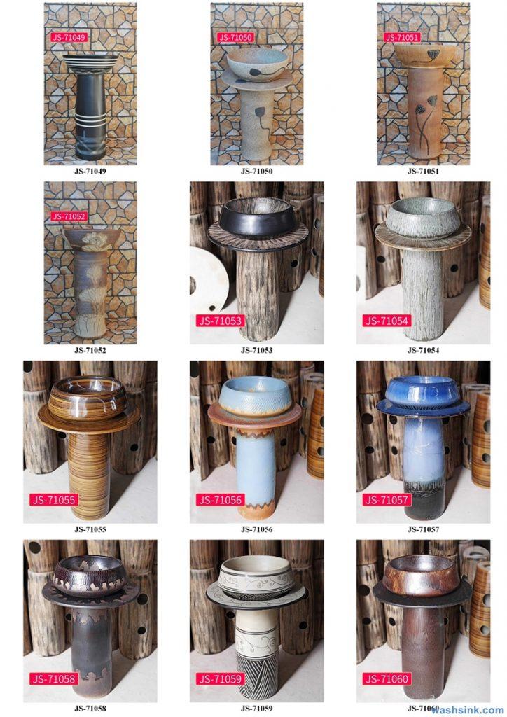 2020-VOL02-jingdezhen-shengjiang-ceramic-art-basin-washsink-brochure-JS-069-724x1024 Two wash basin catalogues produced by Shengjiang Ceramics Company will be released in 2020.9.14 - shengjiang  ceramic  factory   porcelain art hand basin wash sink