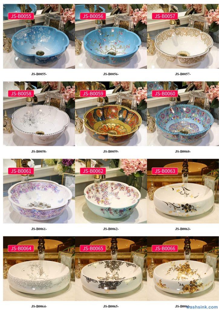 2020-VOL02-jingdezhen-shengjiang-ceramic-art-basin-washsink-brochure-JS-083-724x1024 Two wash basin catalogues produced by Shengjiang Ceramics Company will be released in 2020.9.14 - shengjiang  ceramic  factory   porcelain art hand basin wash sink