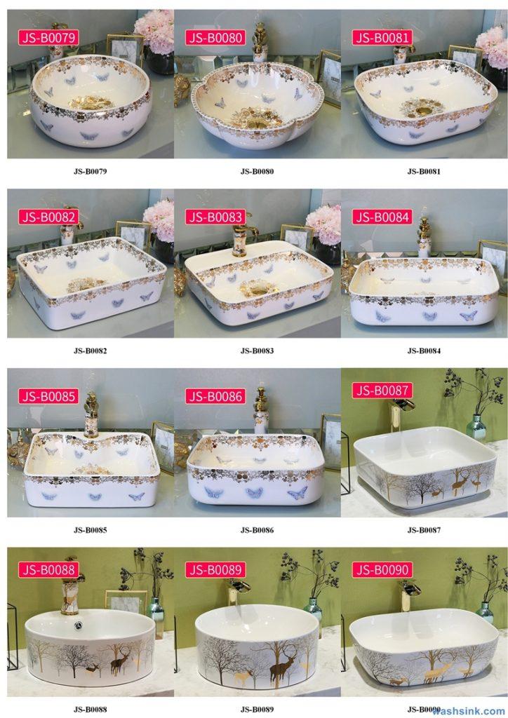 2020-VOL02-jingdezhen-shengjiang-ceramic-art-basin-washsink-brochure-JS-085-724x1024 Two wash basin catalogues produced by Shengjiang Ceramics Company will be released in 2020.9.14 - shengjiang  ceramic  factory   porcelain art hand basin wash sink