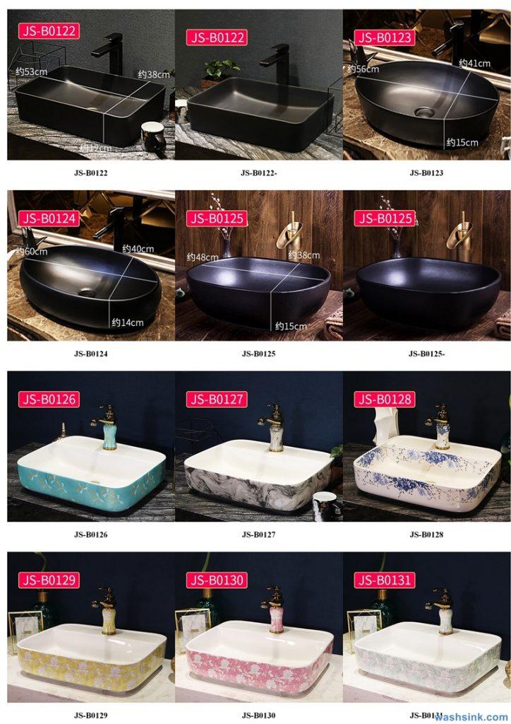 2020-VOL02-jingdezhen-shengjiang-ceramic-art-basin-washsink-brochure-JS-089-724x1024 Two wash basin catalogues produced by Shengjiang Ceramics Company will be released in 2020.9.14 - shengjiang  ceramic  factory   porcelain art hand basin wash sink