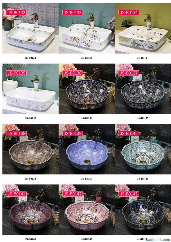 2020-VOL02-jingdezhen-shengjiang-ceramic-art-basin-washsink-brochure-JS-090-724x1024 Two wash basin catalogues produced by Shengjiang Ceramics Company will be released in 2020.9.14 - shengjiang  ceramic  factory   porcelain art hand basin wash sink