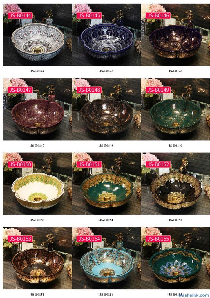 2020-VOL02-jingdezhen-shengjiang-ceramic-art-basin-washsink-brochure-JS-091-724x1024 Two wash basin catalogues produced by Shengjiang Ceramics Company will be released in 2020.9.14 - shengjiang  ceramic  factory   porcelain art hand basin wash sink