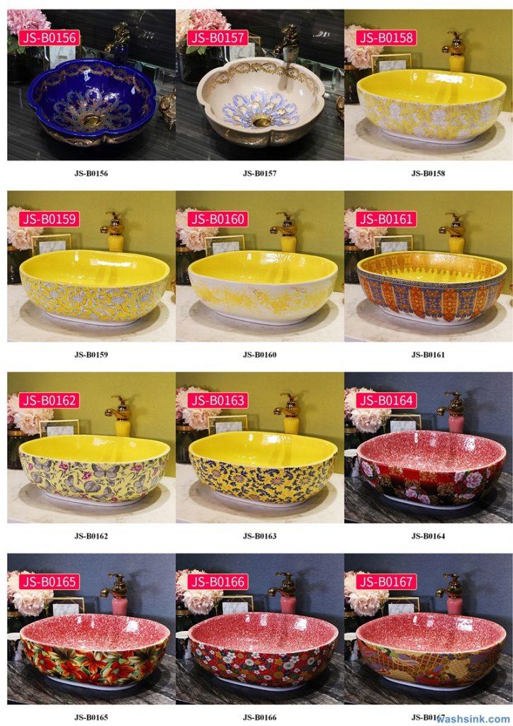 2020-VOL02-jingdezhen-shengjiang-ceramic-art-basin-washsink-brochure-JS-092-724x1024 Two wash basin catalogues produced by Shengjiang Ceramics Company will be released in 2020.9.14 - shengjiang  ceramic  factory   porcelain art hand basin wash sink