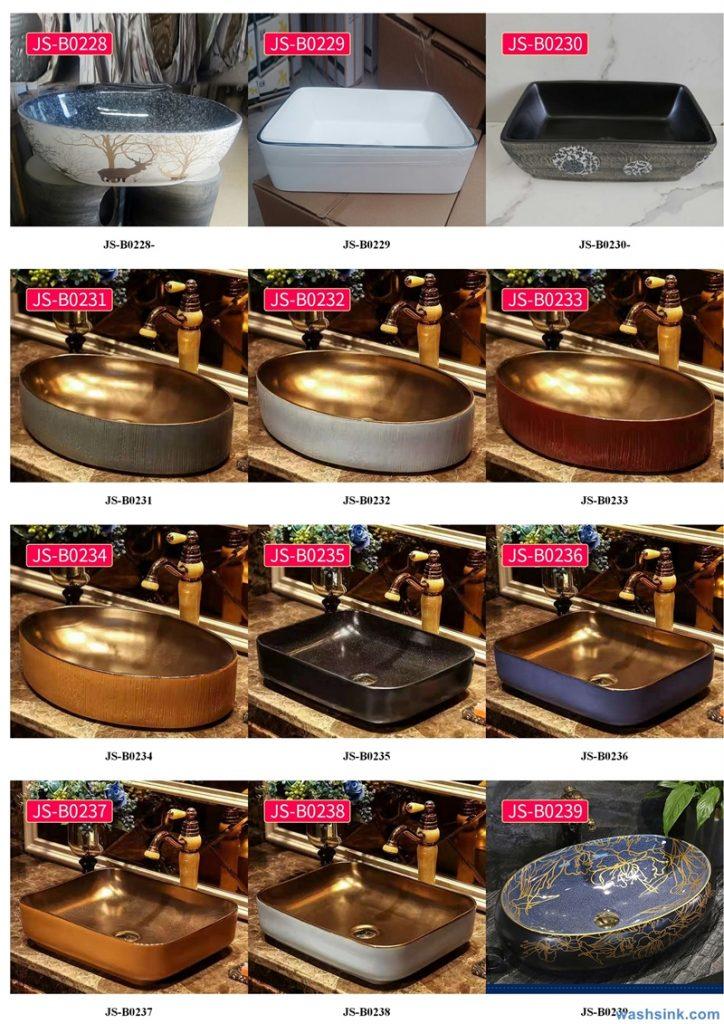 2020-VOL02-jingdezhen-shengjiang-ceramic-art-basin-washsink-brochure-JS-098-724x1024 Two wash basin catalogues produced by Shengjiang Ceramics Company will be released in 2020.9.14 - shengjiang  ceramic  factory   porcelain art hand basin wash sink