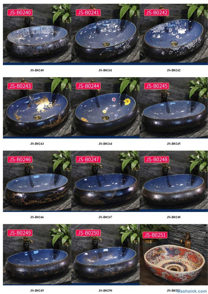 2020-VOL02-jingdezhen-shengjiang-ceramic-art-basin-washsink-brochure-JS-099-724x1024 Two wash basin catalogues produced by Shengjiang Ceramics Company will be released in 2020.9.14 - shengjiang  ceramic  factory   porcelain art hand basin wash sink