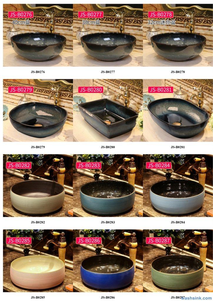 2020-VOL02-jingdezhen-shengjiang-ceramic-art-basin-washsink-brochure-JS-102-724x1024 Two wash basin catalogues produced by Shengjiang Ceramics Company will be released in 2020.9.14 - shengjiang  ceramic  factory   porcelain art hand basin wash sink