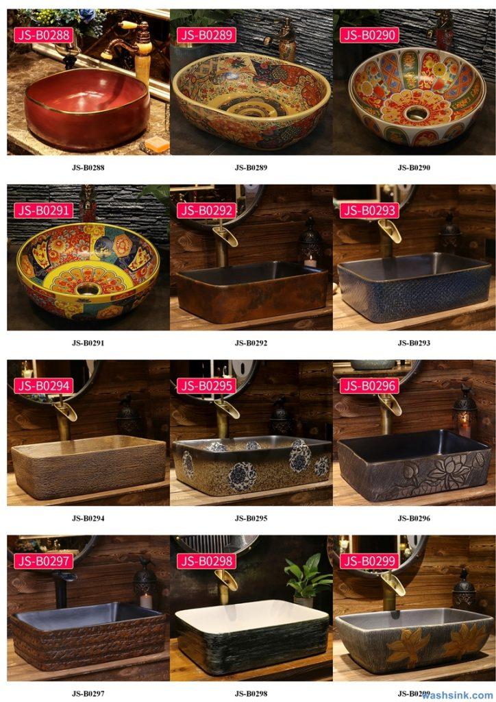 2020-VOL02-jingdezhen-shengjiang-ceramic-art-basin-washsink-brochure-JS-103-724x1024 Two wash basin catalogues produced by Shengjiang Ceramics Company will be released in 2020.9.14 - shengjiang  ceramic  factory   porcelain art hand basin wash sink