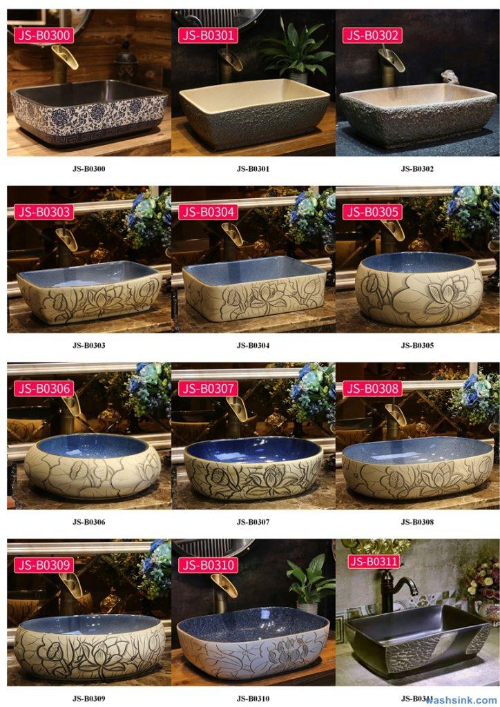 2020-VOL02-jingdezhen-shengjiang-ceramic-art-basin-washsink-brochure-JS-104-724x1024 Two wash basin catalogues produced by Shengjiang Ceramics Company will be released in 2020.9.14 - shengjiang  ceramic  factory   porcelain art hand basin wash sink