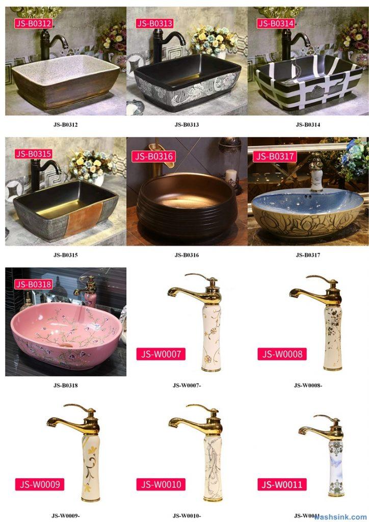 2020-VOL02-jingdezhen-shengjiang-ceramic-art-basin-washsink-brochure-JS-105-724x1024 Two wash basin catalogues produced by Shengjiang Ceramics Company will be released in 2020.9.14 - shengjiang  ceramic  factory   porcelain art hand basin wash sink