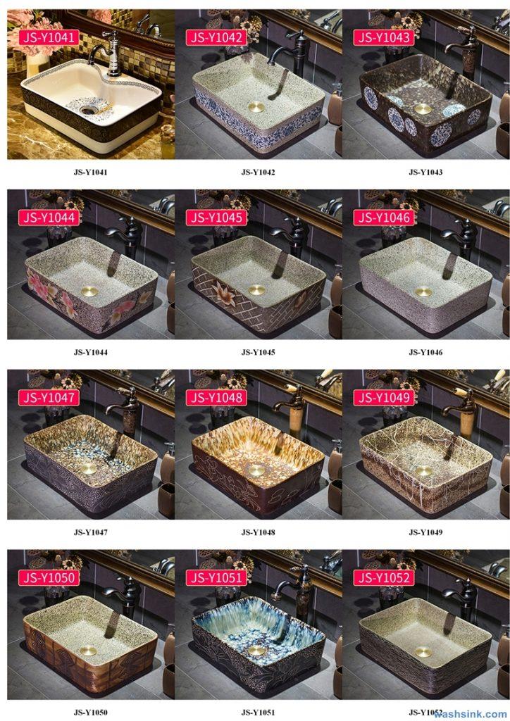 2020-VOL02-jingdezhen-shengjiang-ceramic-art-basin-washsink-brochure-JS-110-724x1024 Two wash basin catalogues produced by Shengjiang Ceramics Company will be released in 2020.9.14 - shengjiang  ceramic  factory   porcelain art hand basin wash sink