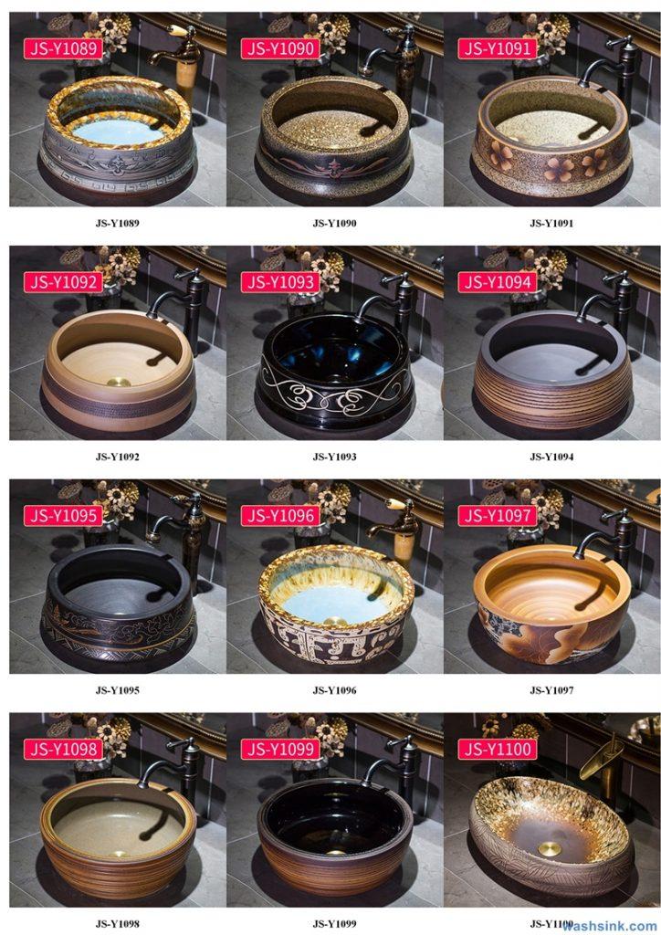 2020-VOL02-jingdezhen-shengjiang-ceramic-art-basin-washsink-brochure-JS-114-724x1024 Two wash basin catalogues produced by Shengjiang Ceramics Company will be released in 2020.9.14 - shengjiang  ceramic  factory   porcelain art hand basin wash sink
