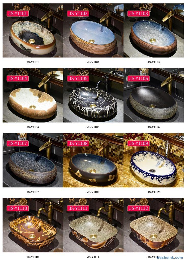 2020-VOL02-jingdezhen-shengjiang-ceramic-art-basin-washsink-brochure-JS-115-724x1024 Two wash basin catalogues produced by Shengjiang Ceramics Company will be released in 2020.9.14 - shengjiang  ceramic  factory   porcelain art hand basin wash sink