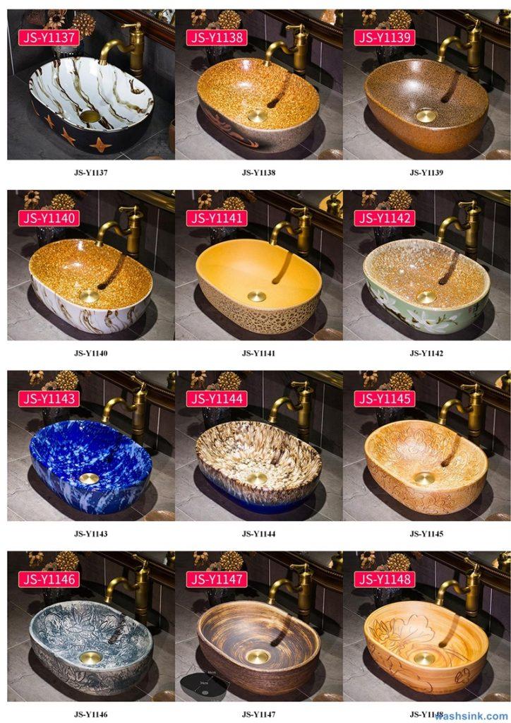 2020-VOL02-jingdezhen-shengjiang-ceramic-art-basin-washsink-brochure-JS-118-724x1024 Two wash basin catalogues produced by Shengjiang Ceramics Company will be released in 2020.9.14 - shengjiang  ceramic  factory   porcelain art hand basin wash sink
