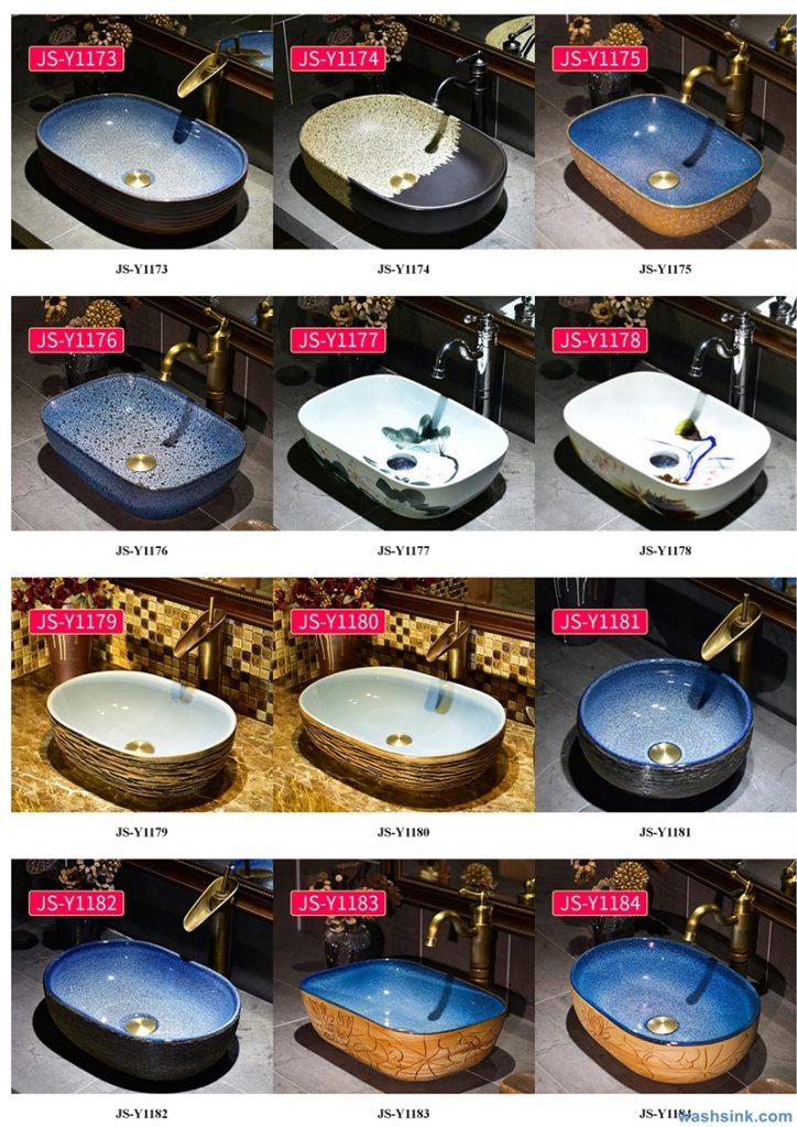 2020-VOL02-jingdezhen-shengjiang-ceramic-art-basin-washsink-brochure-JS-121-724x1024 Two wash basin catalogues produced by Shengjiang Ceramics Company will be released in 2020.9.14 - shengjiang  ceramic  factory   porcelain art hand basin wash sink